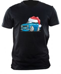 XMAS KOOLART CHRISTMAS SANTA HAT For RETRO MK1 FORD ESCORT RS MEXICO mens or ladyfit t-shirt